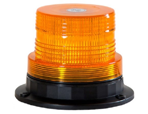 "Beacon, LED, 4"" Wide, Amber, Multi-Mount"