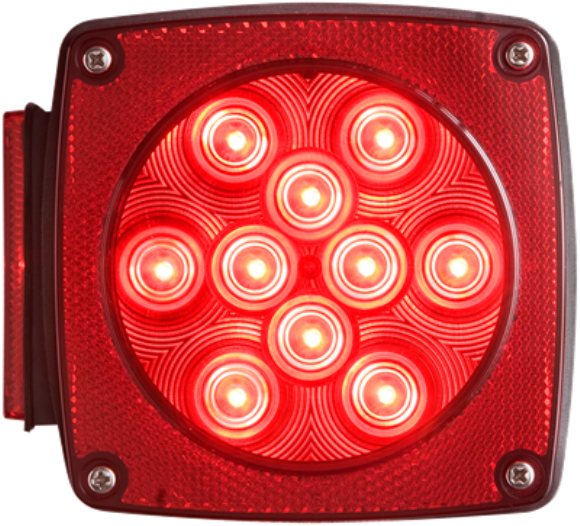 "Tail Light, Left, Under 80"", Water Proof, 2 Stud Mount, (440)"