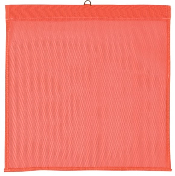 "Safety Flag, 18"" X 18"", Mesh, With Wire, Orange"