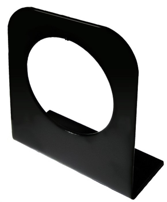 "Light Bracket, Round 2.5"", Steel, Black, (142)"