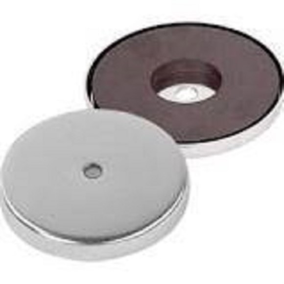 Replacement Magnet, Round, Chrome