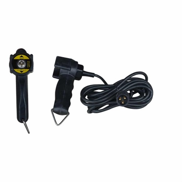 Remote, Spring To Center Toggle, 15' Cord, 3 Prong Plug