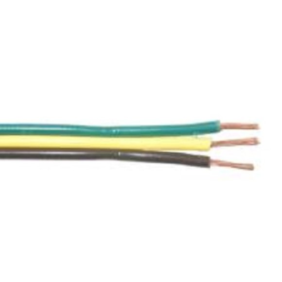 3-Way Flat Wire, 16/3, Brown/Yellow/Green