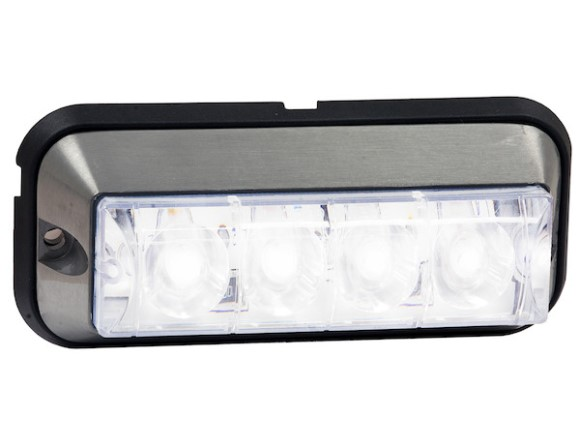 "Strobe, LED, 4 7/8"" Raised, Clear"