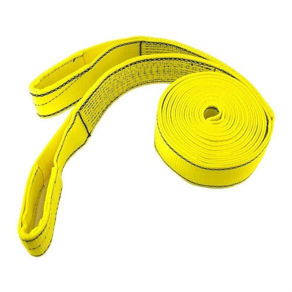 "Tow Strap, 2""X20', 12000 Breaking Strength, Yellow"