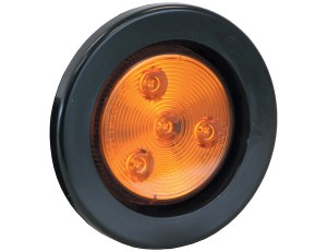 "Marker Light, LED, 2.5"" Round, Amber, 4 LED's (142KA)"