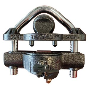 "Coupler Lock, Universal, Deluxe, 9/16"" Shackle, Die Cast, Dual Lock, Fits 1-7/8"", 2"", 2-5/16"