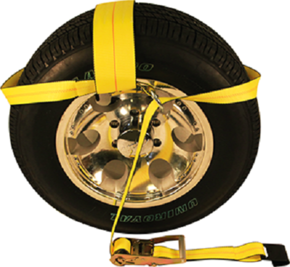 "Auto Strap, Side Mt Wheel Net, Ratchet, Up To 19"" Tire, W/Lasso Ring"