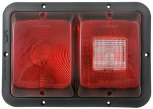 Tail Light, Incandescent, #84, Double Vertical, Reverse Light, Blk Base