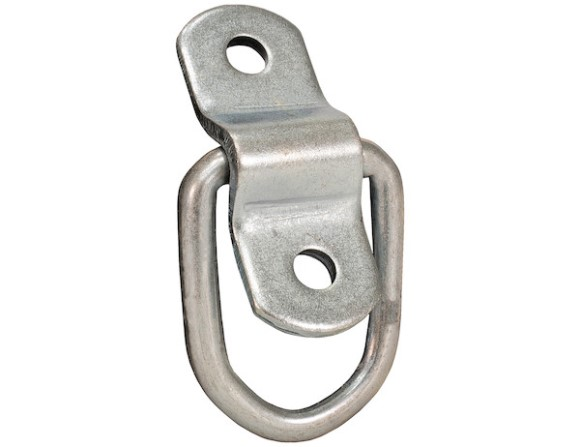 "D-Ring, 1/4"", 2 Hole Mounting Bracket, Clam Shell Pack of 5, 800 lbs."