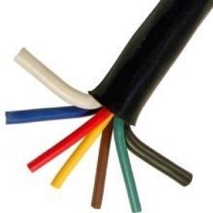 7 Way Cable, 12ga-White/Brown/Blue, 14ga- Red/Green/Black/Yellow